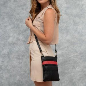 Slim genuine leather Crossbody Bag